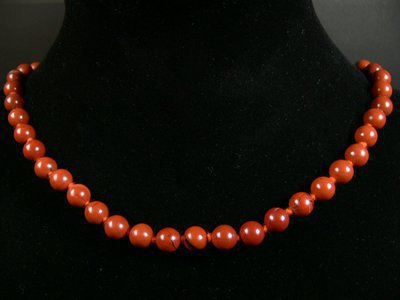 Collier Jaspe rouge en bille naturelle