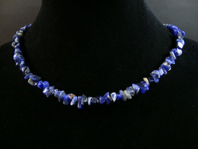 Collier bleu pierre naturelle