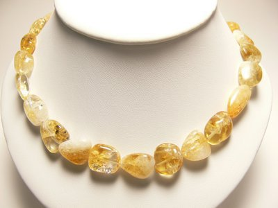 Collier Citrine pierre