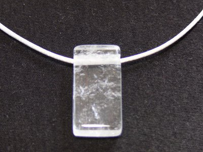 Pendentif cristal de roche rectangle