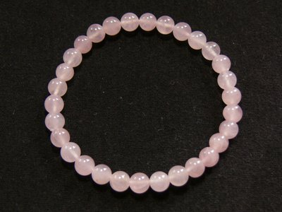 Bracelet en quartz rose bille