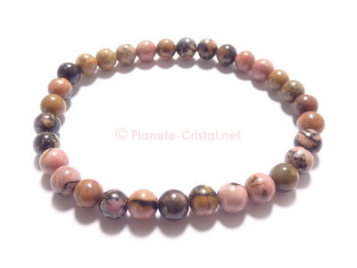 Bracelet bille en rhodonite