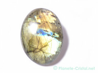 Labradorite irisation jaune or