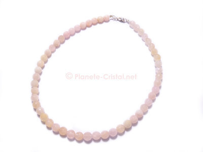 Collier morganite rose pierre precieuse